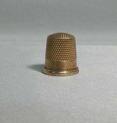 Antique Vintage 10k Gold Sewing Thimble Size 8 (3.28grams) Louise 1912