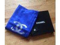 Royal blue quality luxury long silk scarf/shawl 180x70cm new