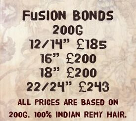 Dunoon hair extensions micro rings, nano rings, celebrity weave, tapes,fusion bonds