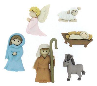 Jesse James Buttons (Jesse James Buttons ~ Dress It Up ~ NATIVITY 7473  ~ Christmas Nativity Crafts)