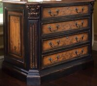 Hooker lateral file cabinet solid wood and wood vaneers