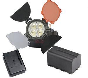 LED 5005 for DV video Camera Camcorder Light + Battery