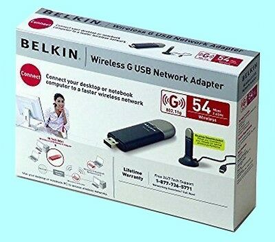 NEW in Box  Belkin Wireless G WiFi F5D7050 Desktop & Laptop  USB Network Adapter