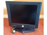"17"" Dell flat screen PC monitor"