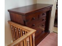 Large Victorian Chest of Drawers / Draws (Mahogany)