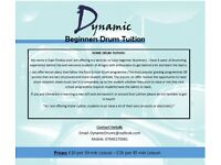 Beginners Drum Tuition - DynamicDrums.