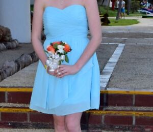 Bridesmaid Dress - Coral Blue (size 8)