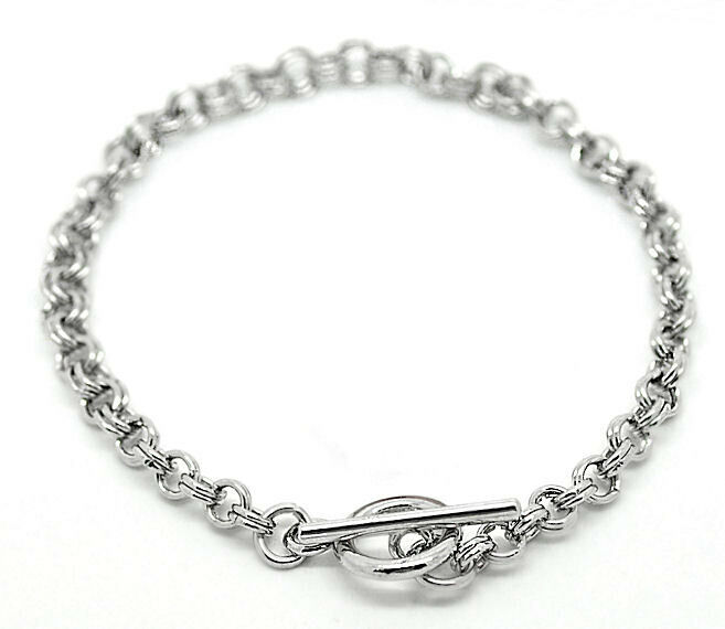 2 Double Chain Link Bracelet with Toggle Clasp  N024