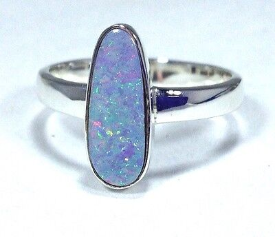 Real opal doublet ring, uk size R 1/2, actual one, new, long. UK seller.