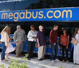 Megabus ticket to Washington DC - 18 Aug