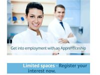 Apprenticeship in dental nursing !! Free for 16-18 or 19+ student learner loan !! Call today