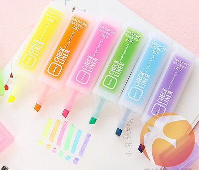 2cute Stationery Colorful Fluorescent Pencolor Highlighter Marker Nite Writer