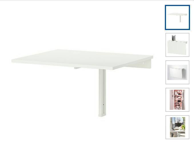 Ikea wall mounted drop leaf table kitchen desk folding table white in enfield london gumtree - Wall mounted kitchen table ikea ...