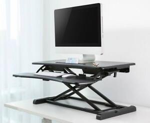 Height-Adjustable-Standing-Desk-r-Riser-Tabletop-Sit-to-Stand-Workstation - FREE SHIPPING