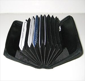 Accordion-Business-CARDS-Credit-ID-LEATHER-Wallet-Holder-Single-Compartments-NR