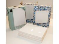 37 white wall tiles 10cm x 15cm - unused.