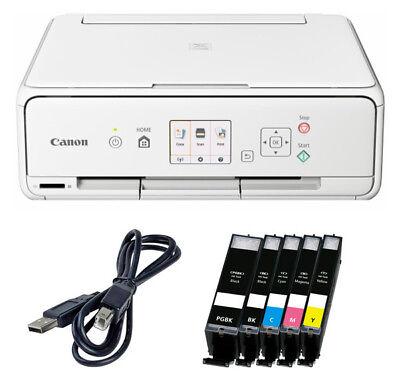 Set Canon Pixma TS 5050/TS 5051 DRUCKER SCANNER KOPIERER WLAN + 5x XL TINTE +USB