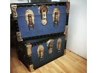 pair of vintage chests / trunks / storage boxes £15 for both