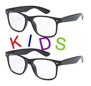 90f41feffbe SMALL KIDS CLEAR LENS GLASSES Classic Nerd Hipster Geek Toddler Children  WayFare