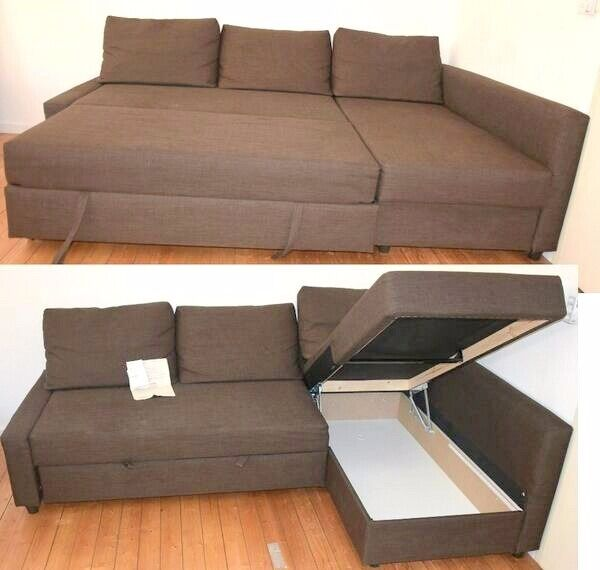 Corner Sofa Bed (L or R) With Storage In BrownLOCAL FREE DELIVERYin Southampton, HampshireGumtree - Corner Sofa Bed (L or R) With Storage In Brown LOCAL FREE DELIVERY Corner Sofa Bed (L or R) With Storage In Brown Sofa, Chaise Longue And Double Bed In One Storage Space Under The Chaise Longue You Can Place The Chaise Longue Section To The Left Or...