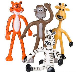 Special Needs BENDY ZOO ANIMALS Colourful Fidget Toy Hand Therapy ASD Sensory
