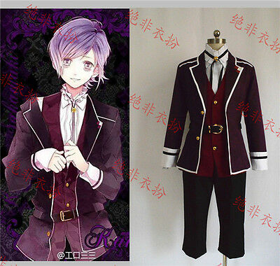 Diabolik Lovers Kanato Sakamaki Cosplay Costume Red Uniform Free Shipping - Diabolik Lovers Kanato Kostüm