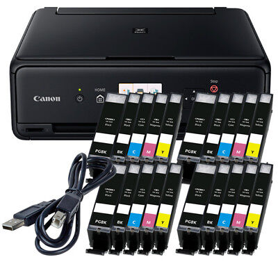 Spar Set Canon Pixma TS-5050 DRUCKER SCANNER KOPIERER WLAN + 20x XL TINTE + USB