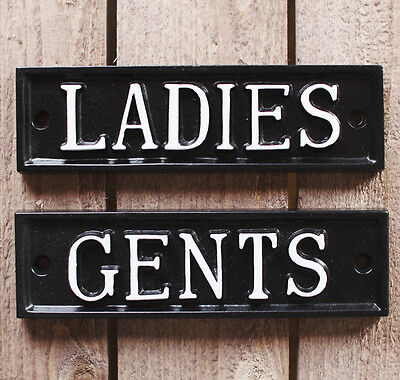 LADIES /& GENTS TOILET DOOR SIGN ANTIQUE PUB SHOP CAFE RESTAURANT SIGN BATH16/&17