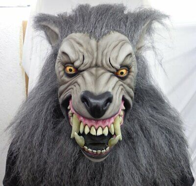 Werewolf For Halloween (Mask Head & Neck - for Cosplay Halloween Dress Up Party Costume -)