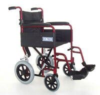 Wheelchair with footrests for travel