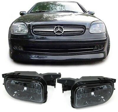 Klarglas Nebelscheinwerfer schwarz smoke für Mercedes SLK R170 R171
