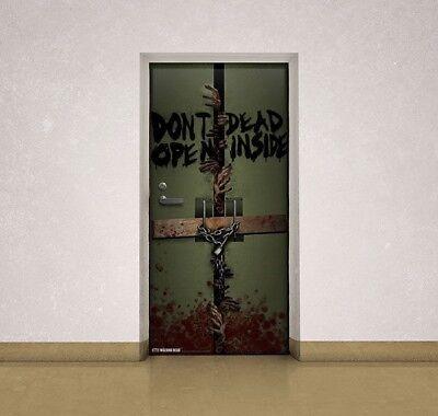 AMC The Walking Dead Inside Bloody Door Cling Zombie Decor 72