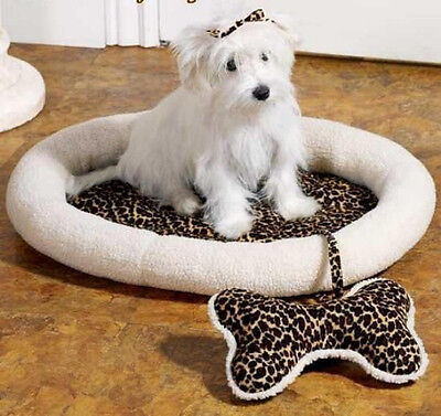 CUTE DOG BED WITH BONE SHAPED TOY NEW (Bone Shaped Dog Bed)