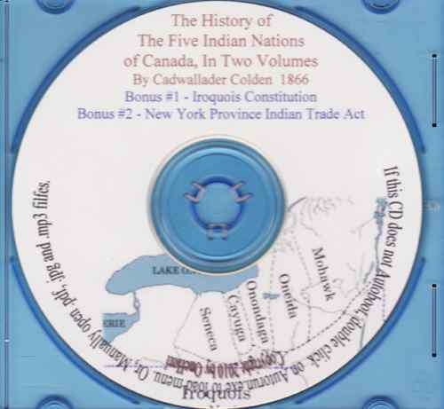 History of the Five Indian Nations - Volumes 1 & 2
