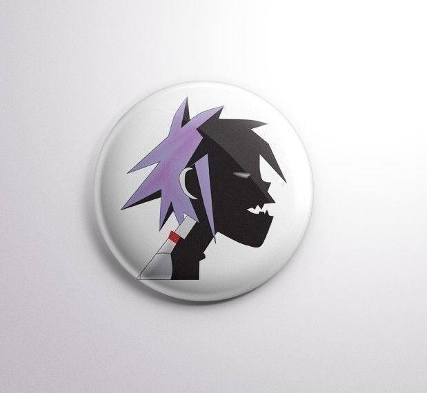 Gorillaz -  Pinbacks Badge Button 25mm 1