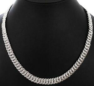 22-5-HEAVY-TWIST-WOVEN-LINK-SILVER-CHAIN-NECKLACE-NEW