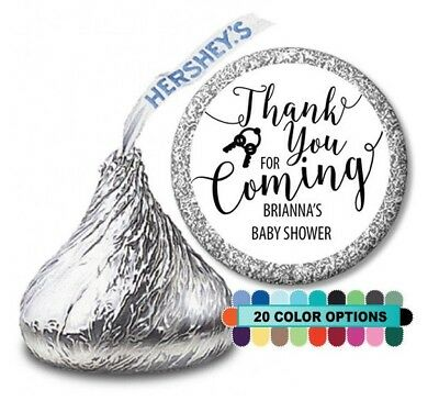 Personalized Party Favors For Baby Shower (Thank you for coming! Baby Shower Personalized Party Favor Hershey Kiss)