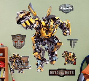 BNIB-Bumblebee Transformer (LIFESIZE) Fathead Wall Sticker