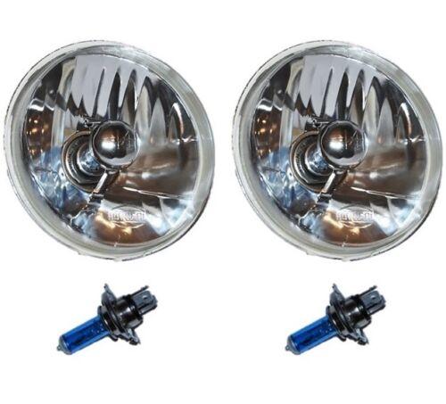 5-3/4 Crystal Clear Halogen Headlight Headlamp Sw 60/55W H4 Light Bulbs Pair
