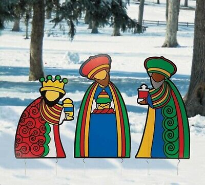 Christmas Nativity Scene Outdoor Decoration Three Kings Yard Decor Holiday Gift ()