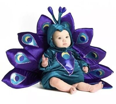 Princess Paradise Baby Peacock Infant / Toddler Plush Costume Size 18 M- 2T NEW