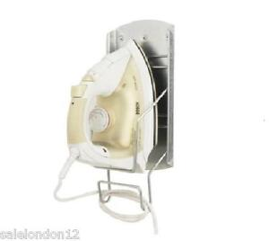 wall mounted iron holder stand ironing board galvanised steel stand ebay. Black Bedroom Furniture Sets. Home Design Ideas