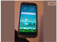 HTC M8 NEW CONDITION WITH ALL ACCESSORIES UNLOCKED 16GB