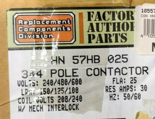 Carrier HN57HB025 25 Amp 3&4 Pole Contactor Assembly (1055725)