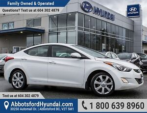 2013 Hyundai Elantra Limited ONE OWNER, BC OWNED & CERTIFIED...