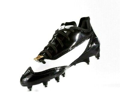 Adidas adizero 5 Star 6.0 PROM Black White Patent Leather Football Cleats NEW