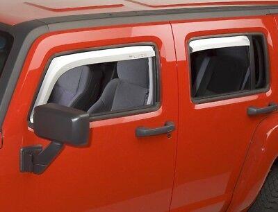HUMMER H3 CHROME IN-CHANNEL WINDOW VISORS 06 07 08 09 10