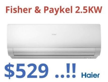 ***NEW*** Fisher & Paykel 2.5KW Split System Air Conditioner $529!!