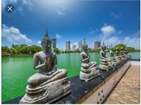 1x return flight from London to Sri Lanka in May