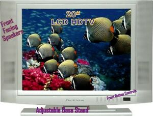 """LCD 20"""" HDTV WideScreen FlatPanel, Adjtble Stand, front Speakers"""